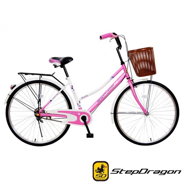 StepDragon S1 26吋 繽紛彩蝶 單速 淑女車